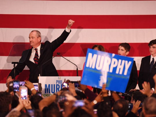 Gubernatorial primary election night gathering for Phil Murphy at the Robert Treat Hotel in Newark on Tuesday, June 6, 2017.