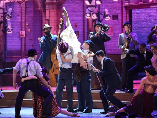 The cast of 'Bandstand' performs at the 2017 Tony Awards.