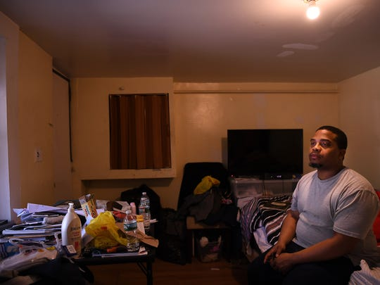 Karream Sheard was a fixer for one of the biggest drug cartels in America. After time in prison, he now lives in Paterson and is trying to put his life together by studying engineering. Sheard is seen here in his basement apartment in Paterson this month.