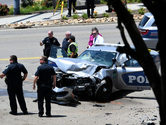 A KPD cruiser responding to a call collided with another