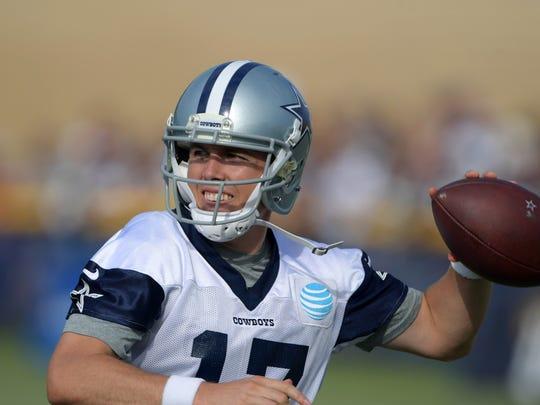 Jul 24, 2017; Oxnard, CA, USA; Dallas Cowboys quarterback