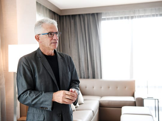John McKibbon, chairman of McKibbon Hospitality, gives a tour of the new AC Hotel which will open August 11 in downtown Asheville.