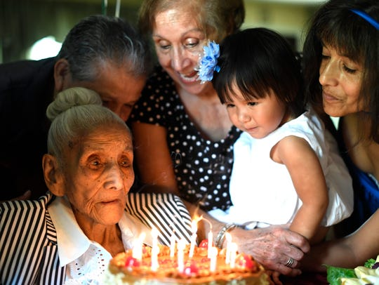 Laura Oblitas, who turned 110 years old on Thursday,