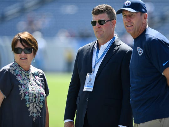 Titans owner Amy Adams Strunk, general manager Jon