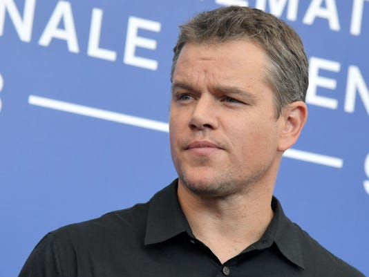 matt damon visits naples takes selfie with fan