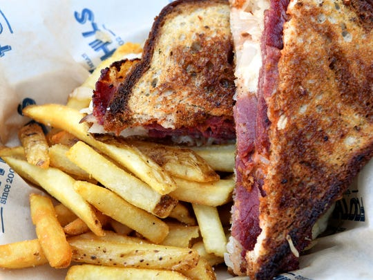 Foothills Food Truck's Reuben with house pastrami on