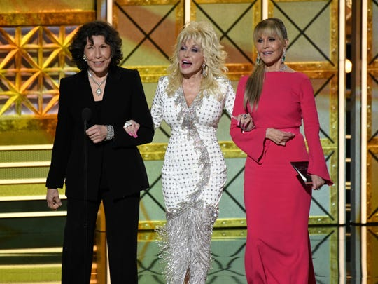 Lily Tomlin, Dolly Parton and Jane Fonda present the