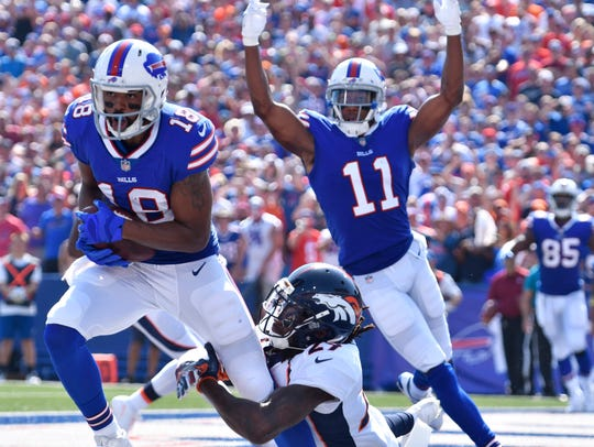 Zay Jones was a happy man after a pass that went through