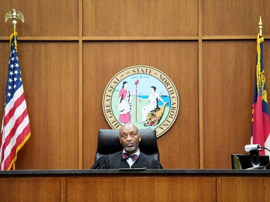 """""""I don't see any other reason to draw these lines the way they're drawing them except to diminish the chances of a Democrat being elected,"""" said Chief District Court Judge Calvin Hill, a Candler resident and Democrat whowould be forced to run in the district that favors Republicans if he seeks re-election."""