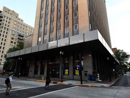 Progress on the downtown William F. Conley Building, which will soon be turned into an Embassy Suites hotel, will cause some street closures this weekend.