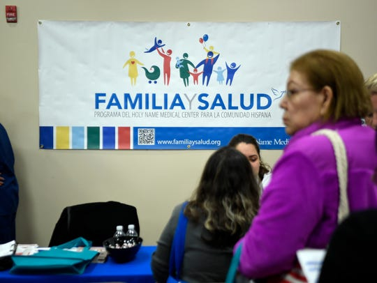 """Holy Name Medical Center in Teaneck held its first """"Familia y Salud"""" health fair through the hospital's Hispanic outreach program on Saturday."""