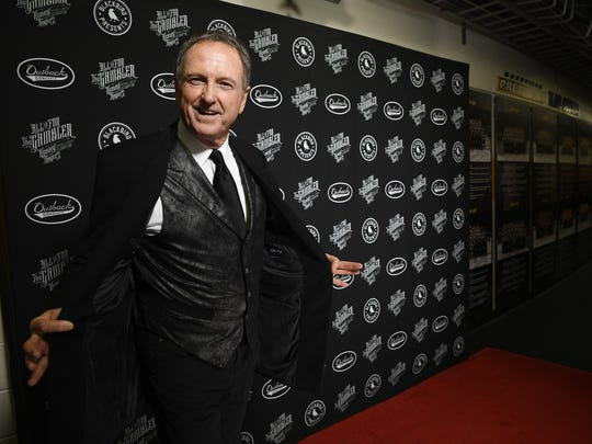 """Rudy Gatlin arrives at """"All In For The Gambler: Kenny Rogers' Farewell Concert Celebration,"""" at Bridgestone Arena in Nashville on Wednesday, Oct. 25, 2017."""
