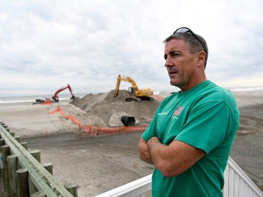 Chuck Cavanaugh of Margate overlooks a construction