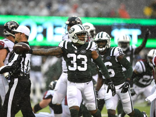 New York Jets strong safety Jamal Adams (33) celebrates