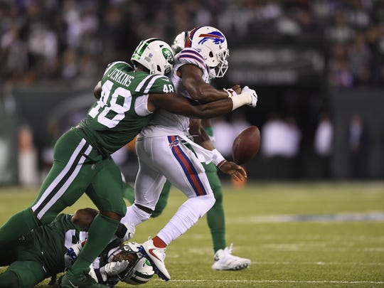 New York Jets outside linebacker Jordan Jenkins (48)