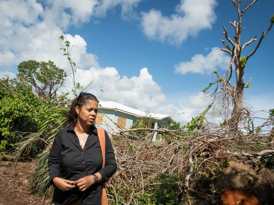 Fredreka Schouten visits her childhood home on St. Croix after Hurricanes Irma and Maria.