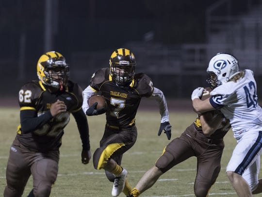 Golden West hosts Central Valley Christian in a Central Section Division IV quarterfinal Friday, November 18, 2016.