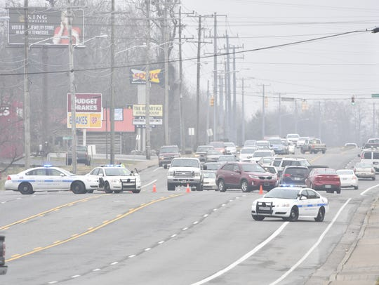 Metro Nashville Police respond to a barricaded subject