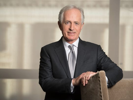 Sen. Bob Corker in his Dirksen Senate Office Building