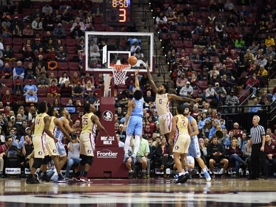 FSU's defense held North Carolina to 40% from the field on Wednesday night.