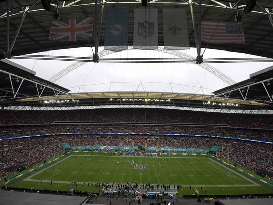 Seahawks play the Raiders on Sunday at Wembley Stadium in London.