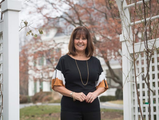 Second Lady Karen Pence in The Family Heritage Garden of the Vice President at Number One Observatory Circle, the vice president's residence located on the northeast grounds of the U.S. Naval Observatory in Washington, D.C. Jack Gruber, USA TODAY