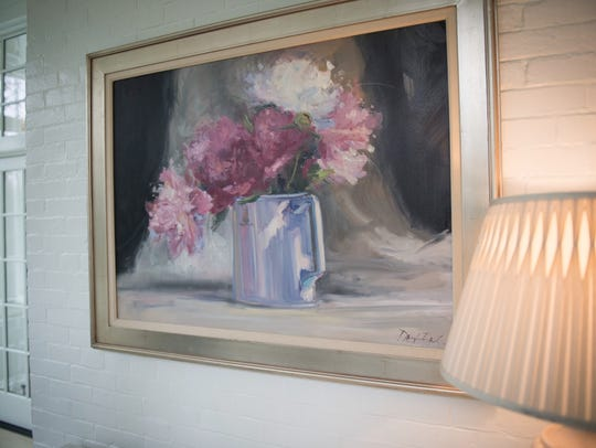 "The painting ""Red, White and Pink Peonies"", Indiana's"