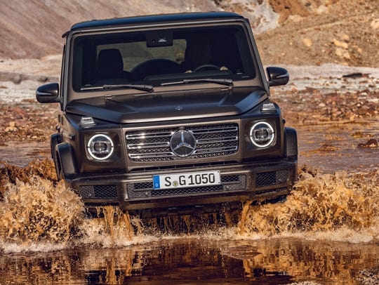 Mercedes-Benz G-Class can wade through water more than