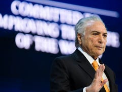 'Brazil is back in business,' President Temer tells World Economic Forum