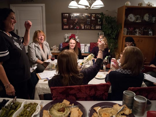 Wine party at the home of Donna Fidecaro on Friday,