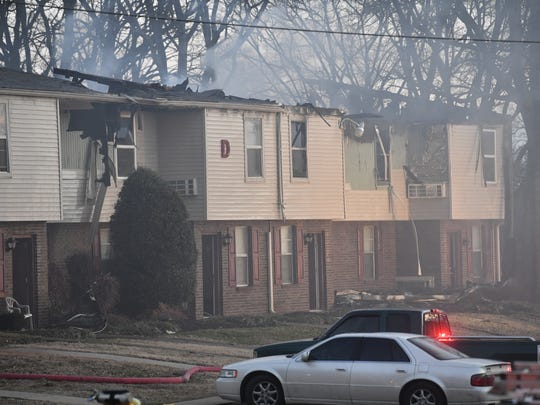 A large fire destroyed four units at an apartment complex