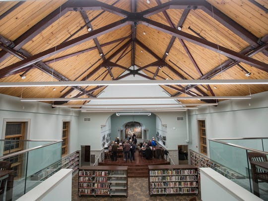 Oakland's newly-renovated library features a refurbished stage area.