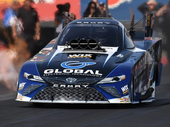 Shawn Langdon had his first test in the Funny Car last