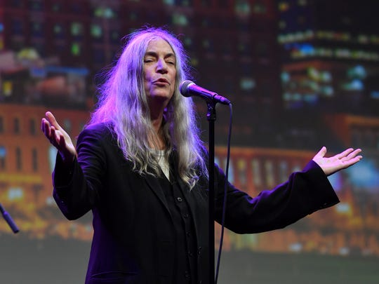 Patti Smith performs during the American Eagle Awards