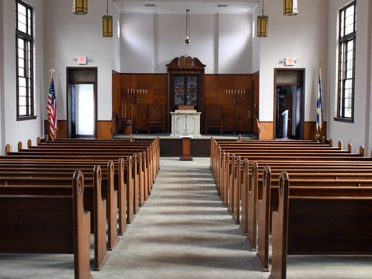 The Temple B'Nai Israel welcomes visitors of any religion to join them in a vigil and unity service Friday, Nov. 2, 2018, to pray for the victims of the Pittsburgh synagogue massacre.