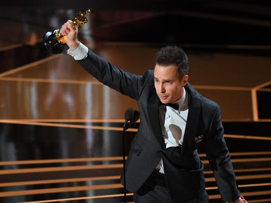 Sam Rockwell, who won the supporting-actor Oscar for his role in 'Three Billboards Outside Ebbing, Missouri,' acknowledged his late friend, Philip Seymour Hoffman, at the end of his acceptance speech.