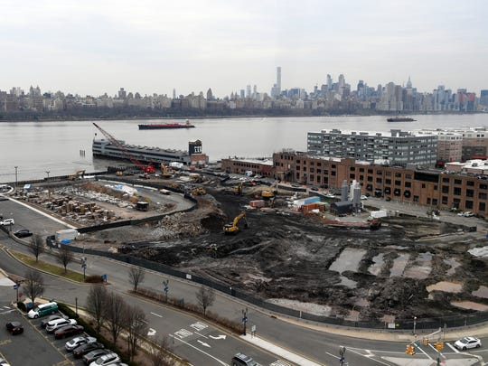 A view of the Quanta superfund site from Irene Stella's apartment in The Metropolitan on River Road in Edgewater on March 1, 2018.
