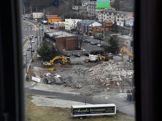 A view of the Quanta Superfund site from Irene Stella's apartment in the Metropolitan on the west side of River Road in Edgewater on Thursday, March 1, 2018.