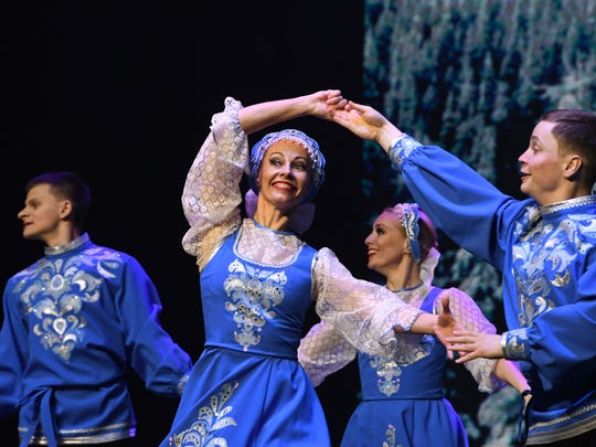 Dancers with the National Dance Company of Siberia