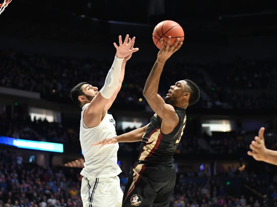 Sophomore guard Trent Forrest provided a strong offensive presence in the Seminoles' 75-70 victory over No.1  Xavier in the second round of the NCAA Tournament