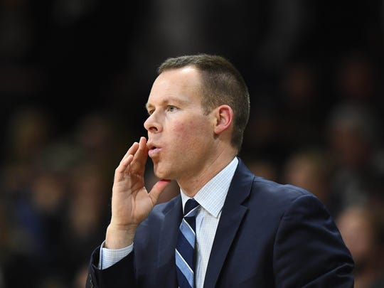 Xavier Musketeers associate head coach Travis Steele during the second half against the Colorado Buffaloes at the Coors Events Center. Mandatory Credit: Ron Chenoy-USA TODAY Sports