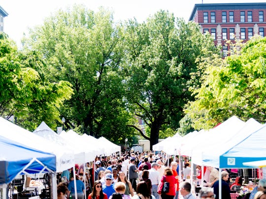The Market Square Farmers' Market in Knoxville is open on Wednesdays from 11 a.m. to 2 p.m. and Saturdays from 9 a.m. to 2 p.m.