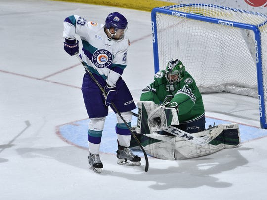The Florida Everblades beat the Orlando Solar Bears,