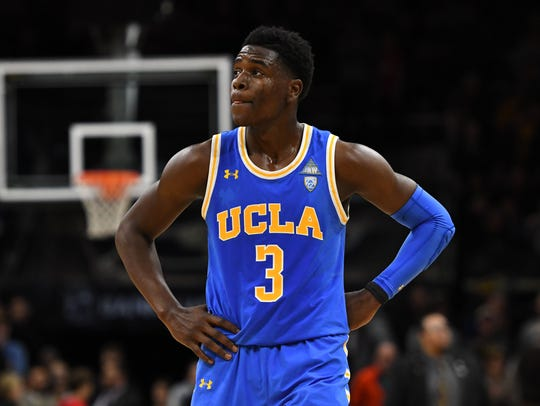 Aaron Holiday following a game against the Colorado