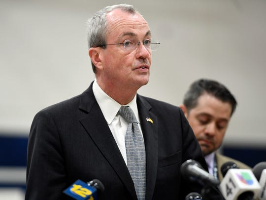 Governor Phil Murphy gives his statement on the fatal I-80 crash involving a Paramus school bus carrying middle school students to a field trip at Waterloo Village on Thursday, May 17, 2018.