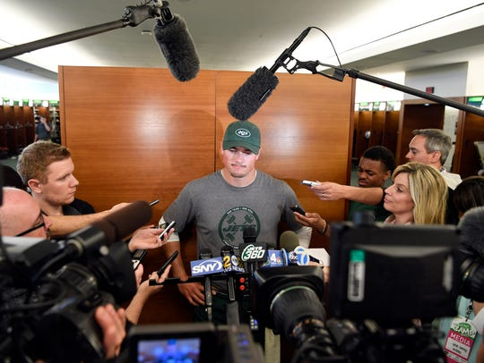 New York Jets quarterback Christian Hackenberg speaks