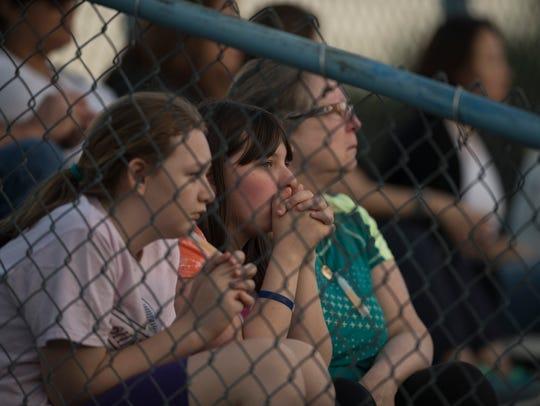 A vigil at Paramus High School on Thursday, May 24,