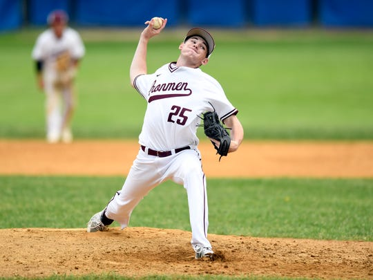 Don Bosco reliever Billy O'Brien threw 3⅔ innings of scoreless relief in Monday's Bergen County baseball final. Pascack Hills got on the board early to defeat the Ironmen, 3-1.