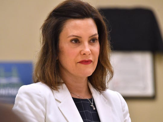 Gretchen Whitmer campaigns for the Democratic nomination for Governor during a stop in Lansing at the Pipefitters Local 333 hall where she talked with campaign interns on Saturday, May 19, 2018.  (Dale G.Young/Detroit News) 2018.