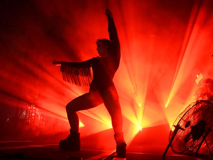 Sylvan Esso performs at the Bonnaroo Music and Arts
